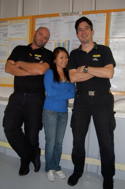 Colleagues from the ship