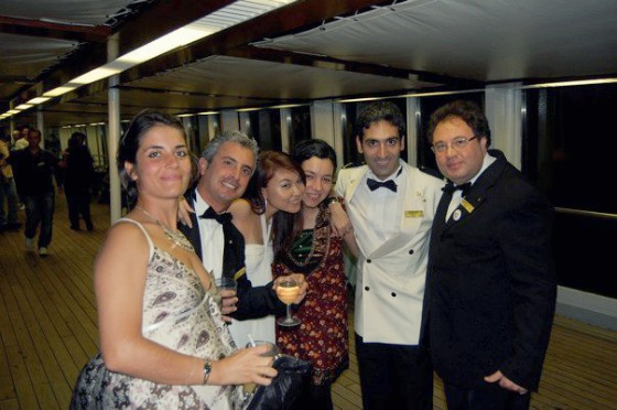 Hanging out during gala nights on the Costa Classica (2011)